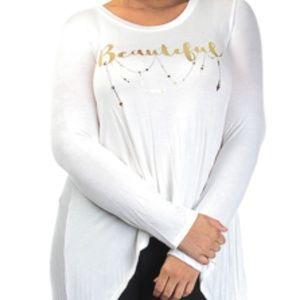 Round Neck Long Sleeved Beautiful Top